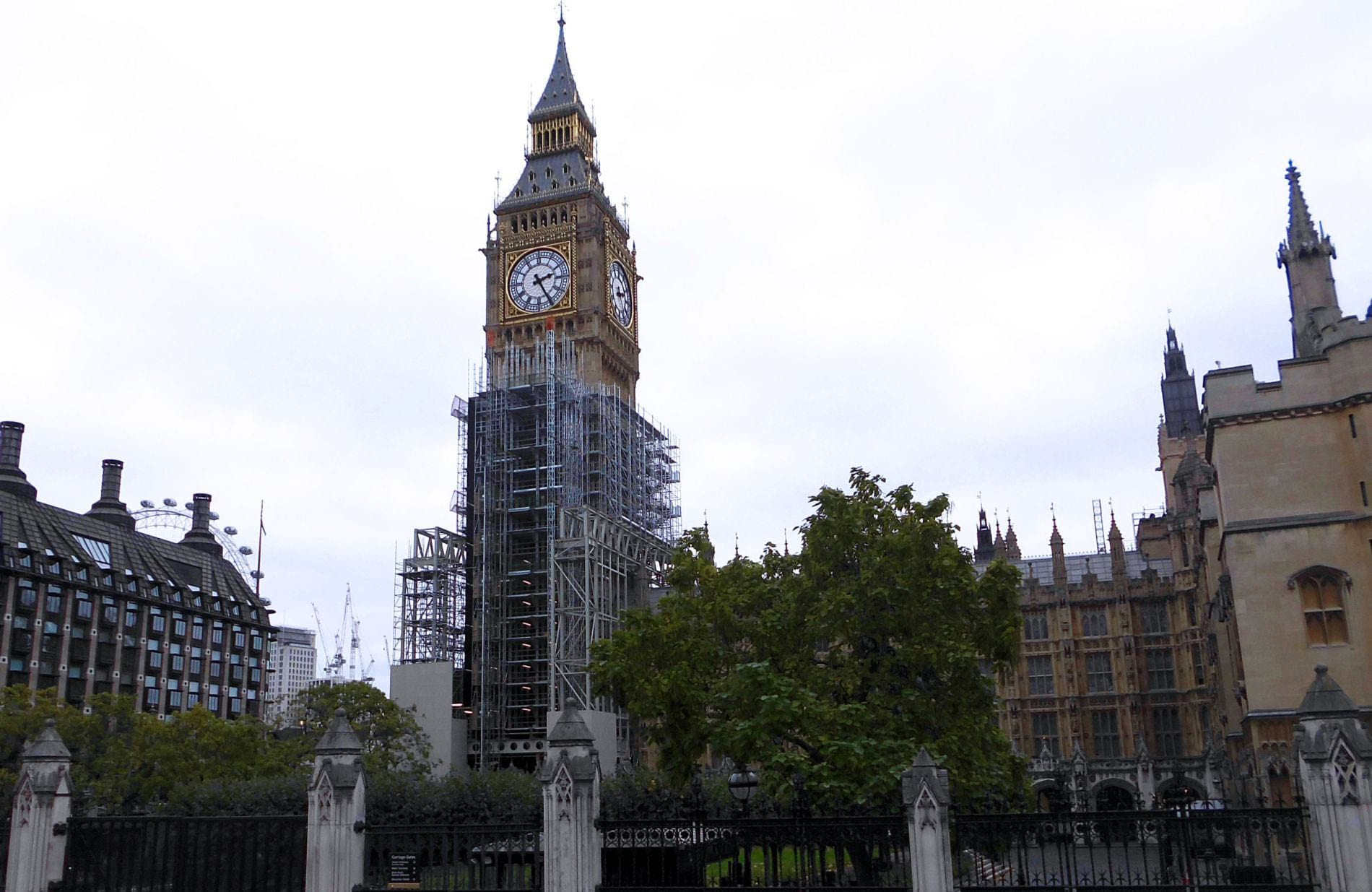 El Big Ben de Londres en obras
