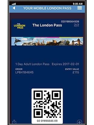Ticket electrónico para el London Pass