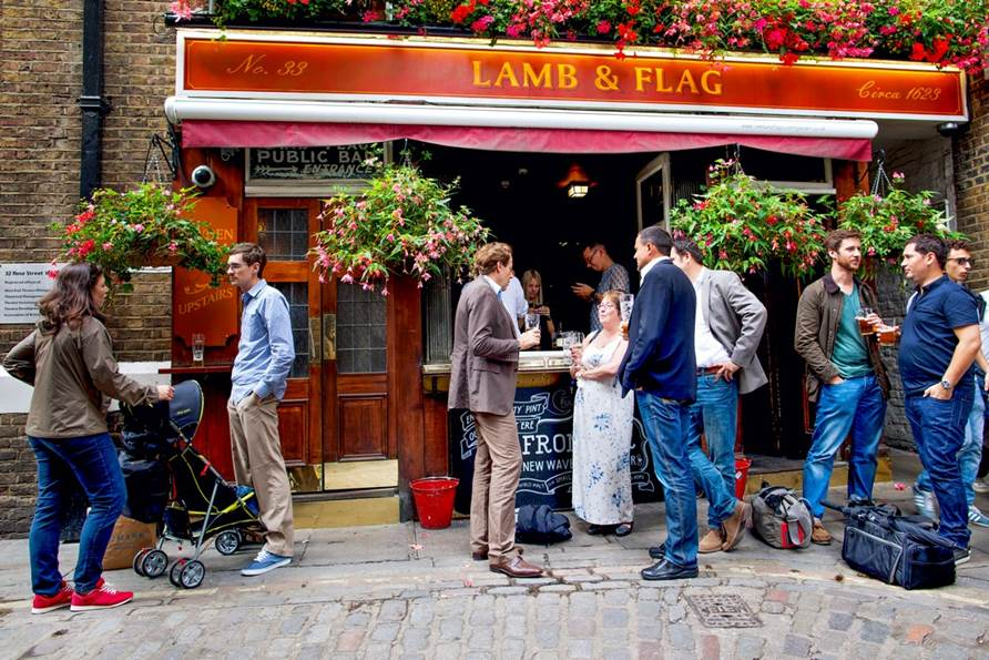 Lamb & Flag Pub en Covent Garden