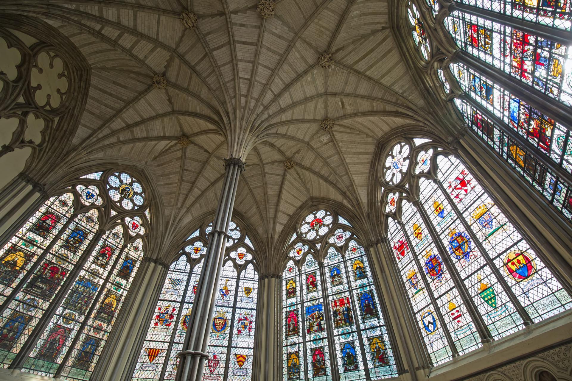 La Abadia de Westminster en Londres desde el interior