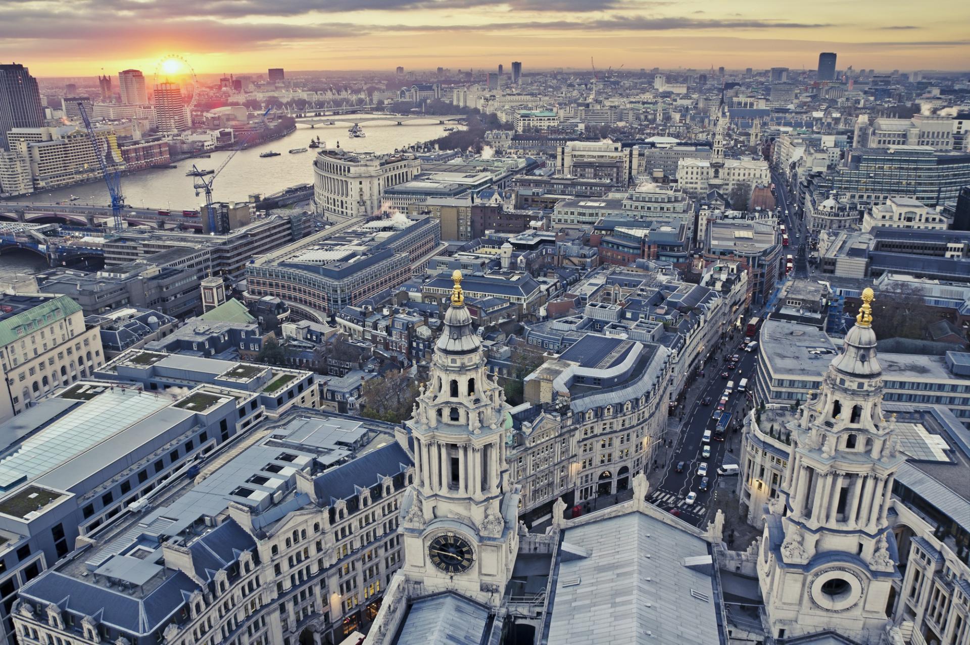 Vista desde la cúpula de la Catedral de San Pablo en Londres