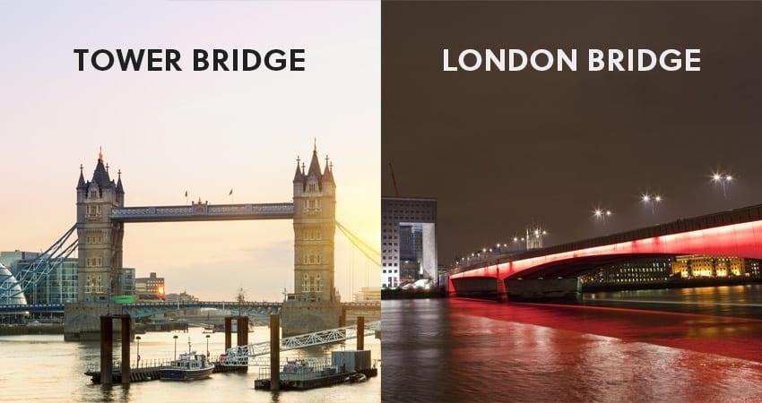 Tower Bridge Vs. London Bridge