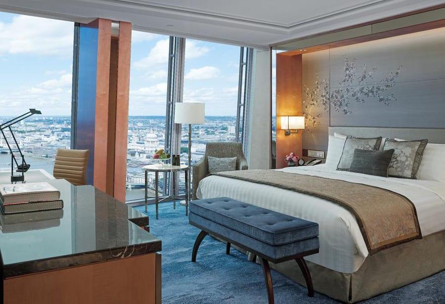 Vistas de Londres desde una de las habitaciones del Hotel Shangri La en el The Shard