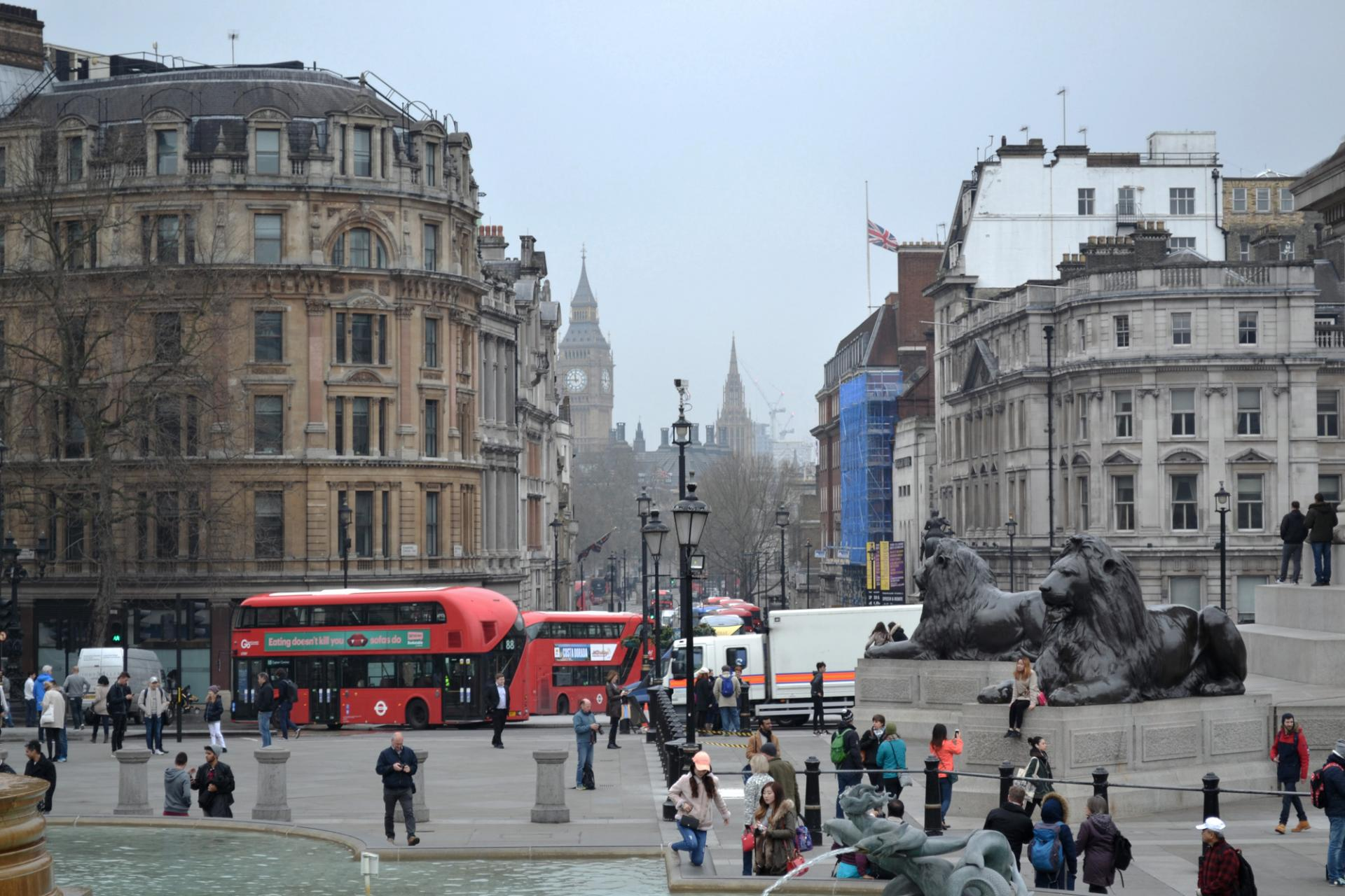 Plaza de Trafalgar en Londres