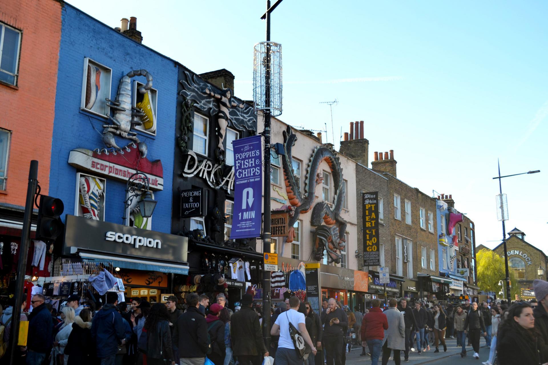 Fachadas decoradas en Camden Town, Londres