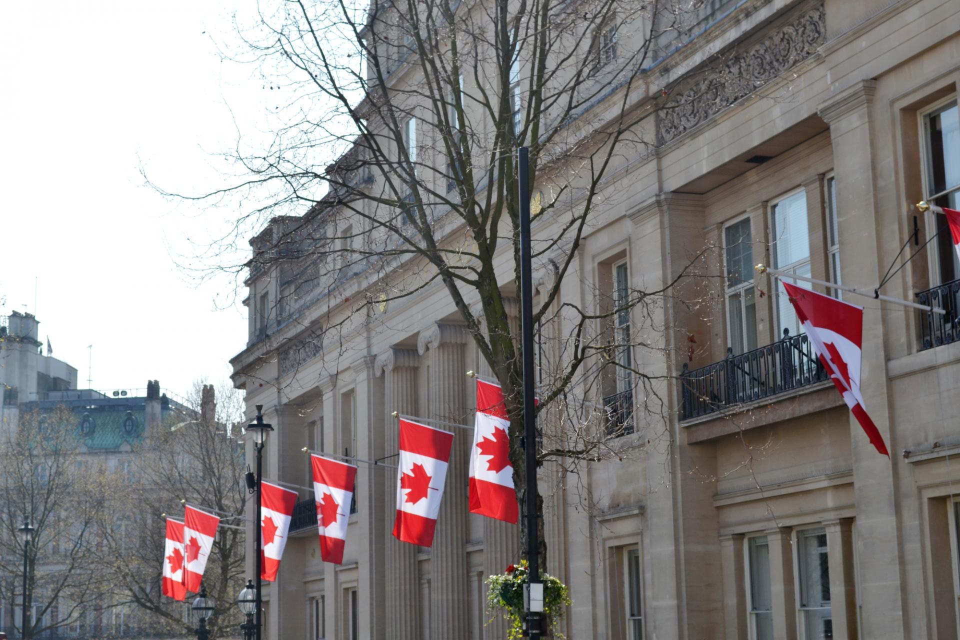 Canada Hause en La Trafalgar Square de Londres