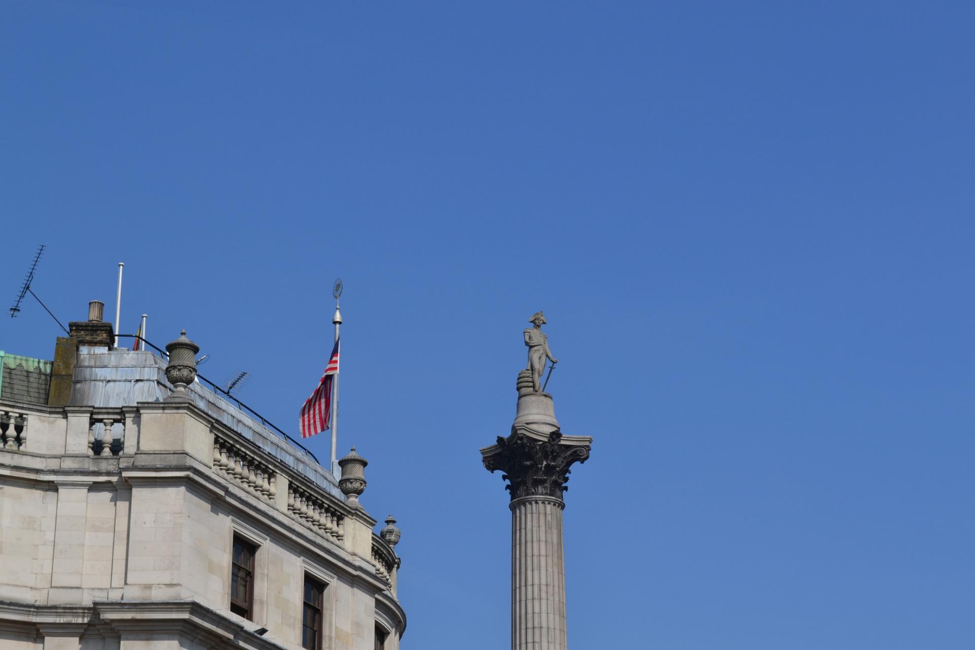 La Columna de Nelson en la Trafalgar Square
