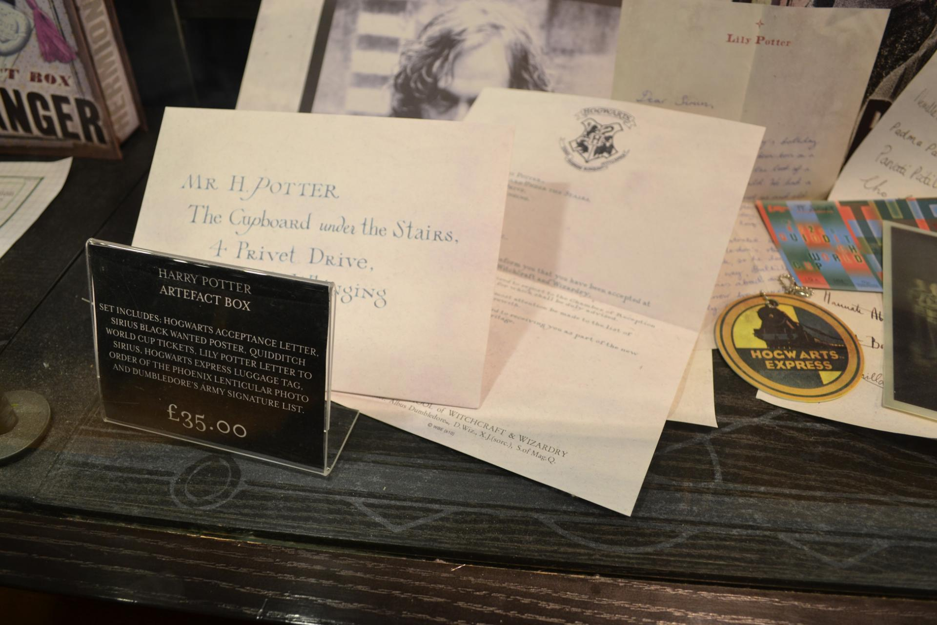 Recuerdos del museo de Harry Potter en Londres