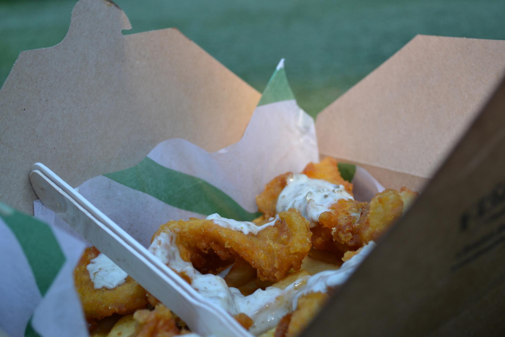 Fish and Chips en el mercado de Camden Town