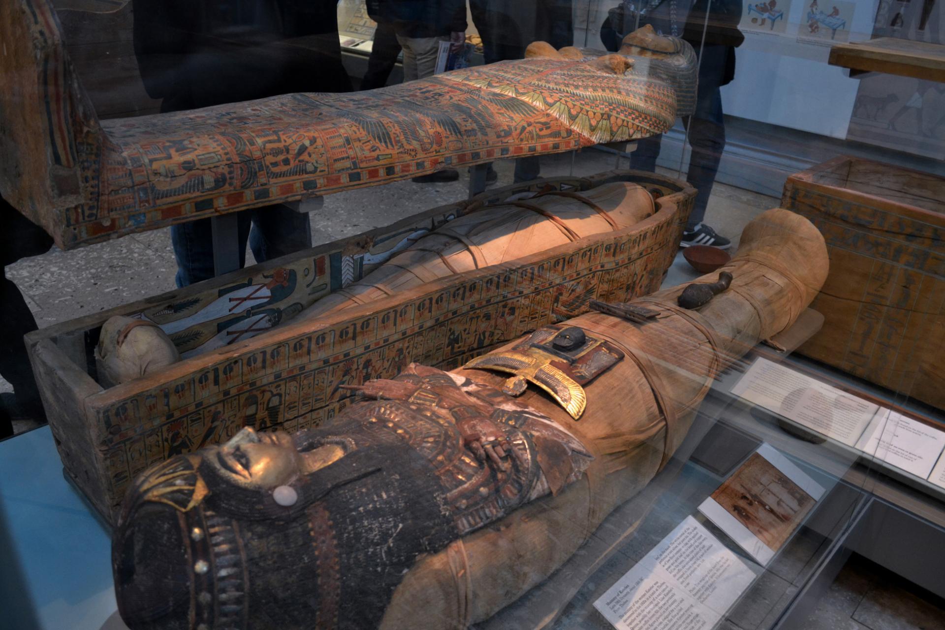 Momias en el Museo Británico