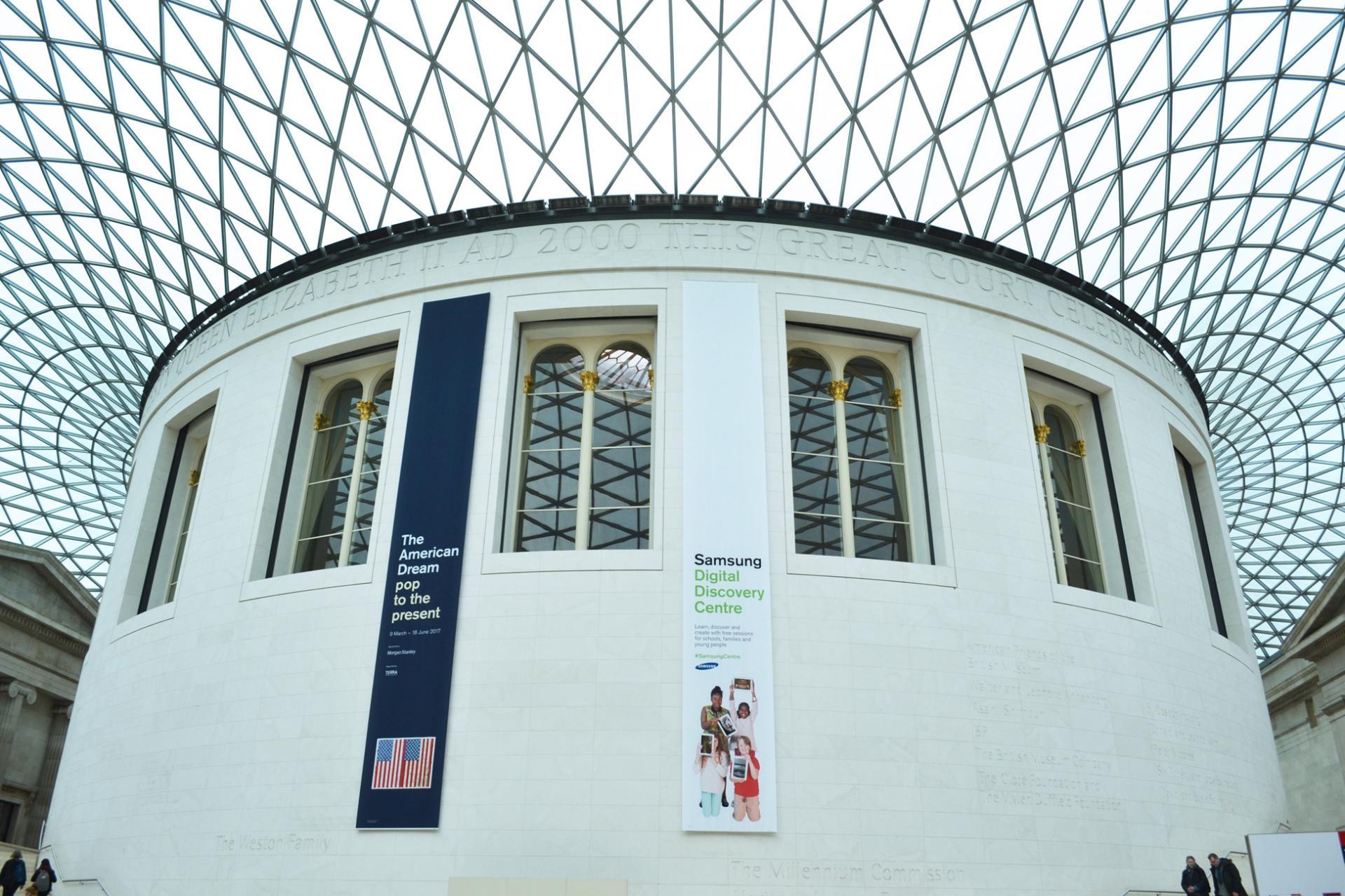 Entrada al museo británico de Londres