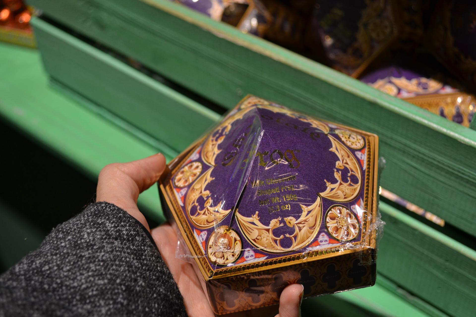Una Rana de Chocolate en la tienda de los Estudios de Harry Potter
