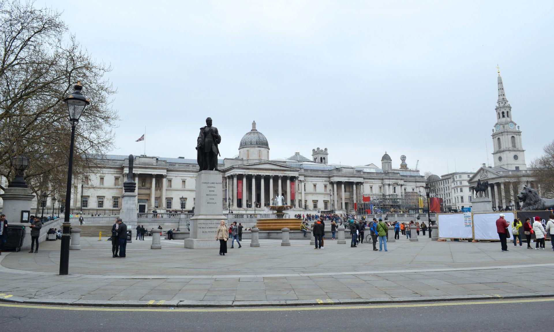 La Trafalgar Square en Londres