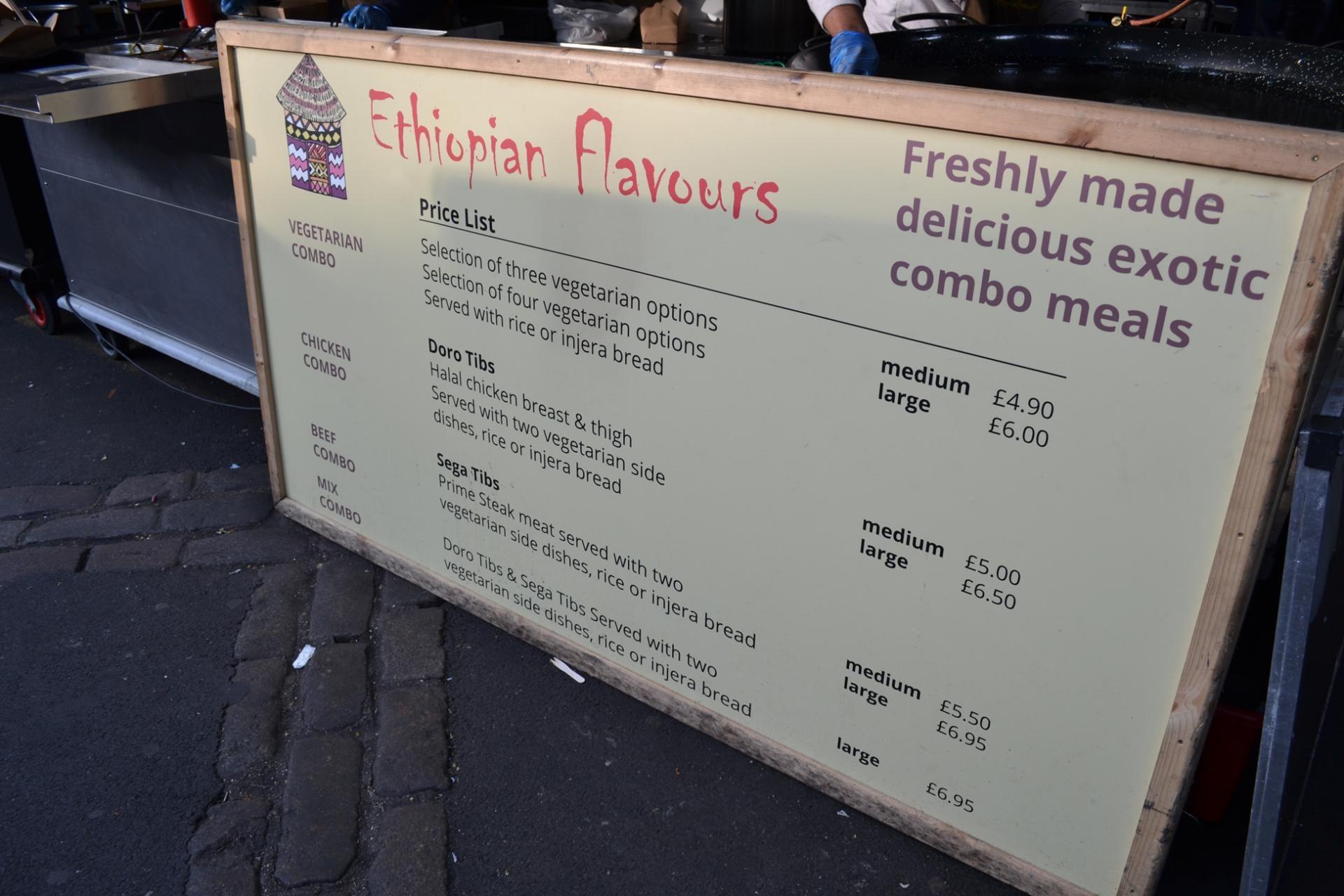 Comida etiope en el Borough Market