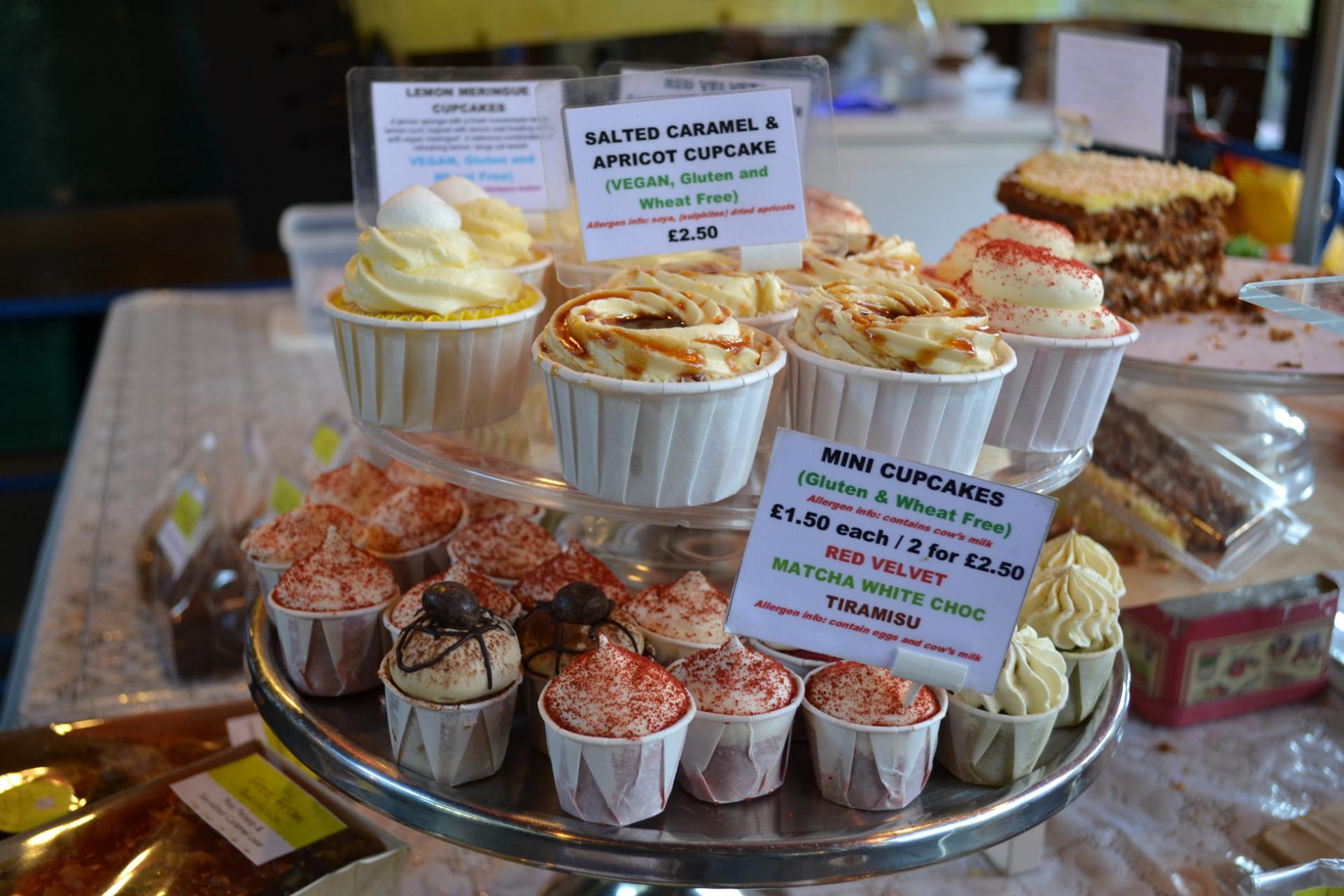 Cupcakes caseras en el Borough Market, Londres