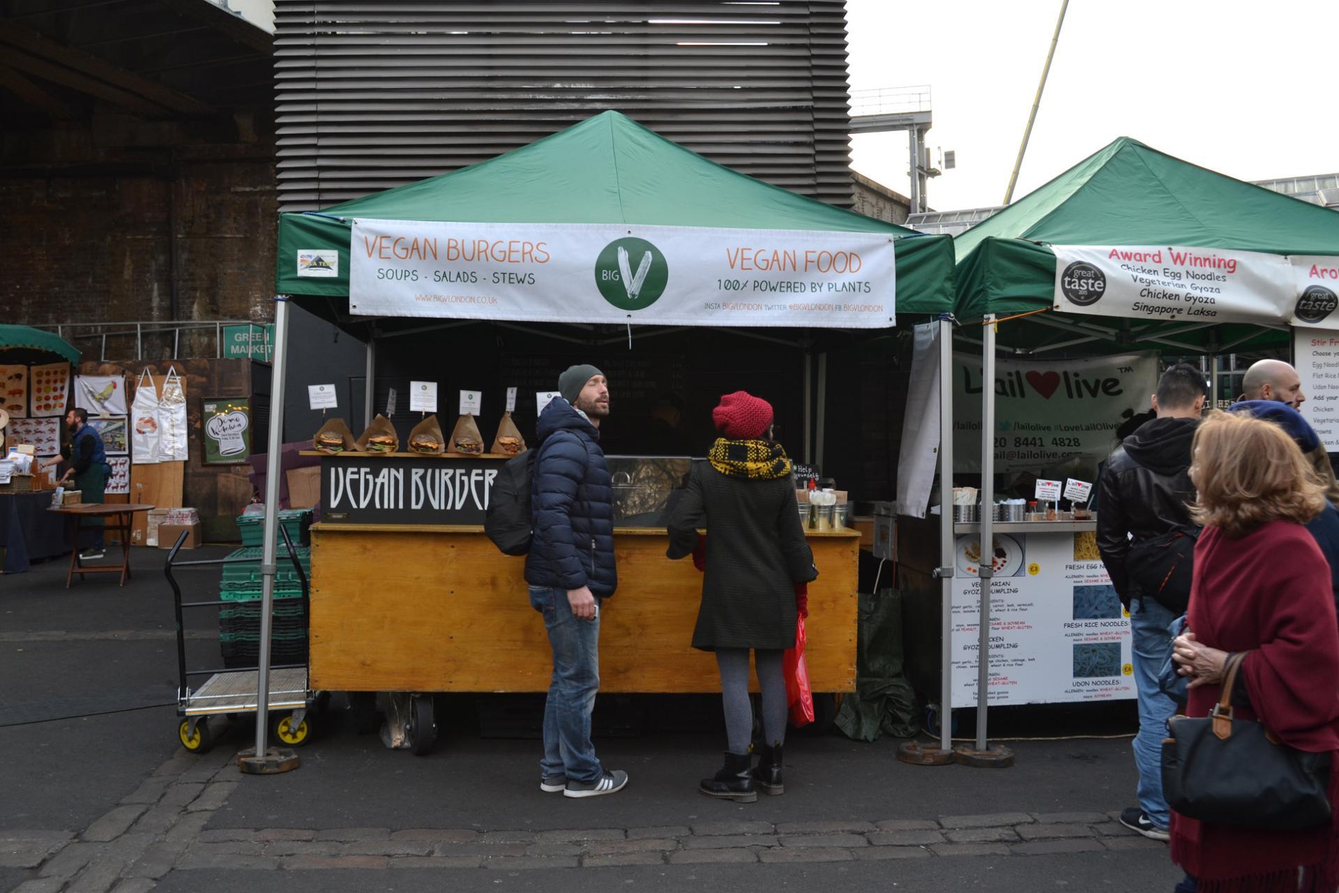 Comida vegana en el Borough Market