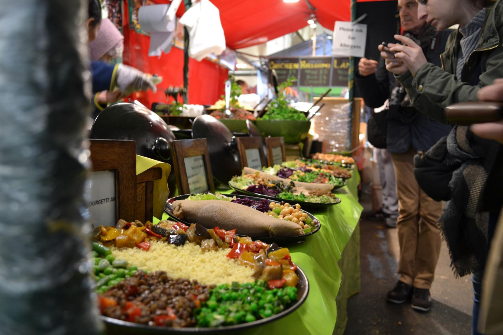 Brick Lane Market: mercado de comida UpMarket