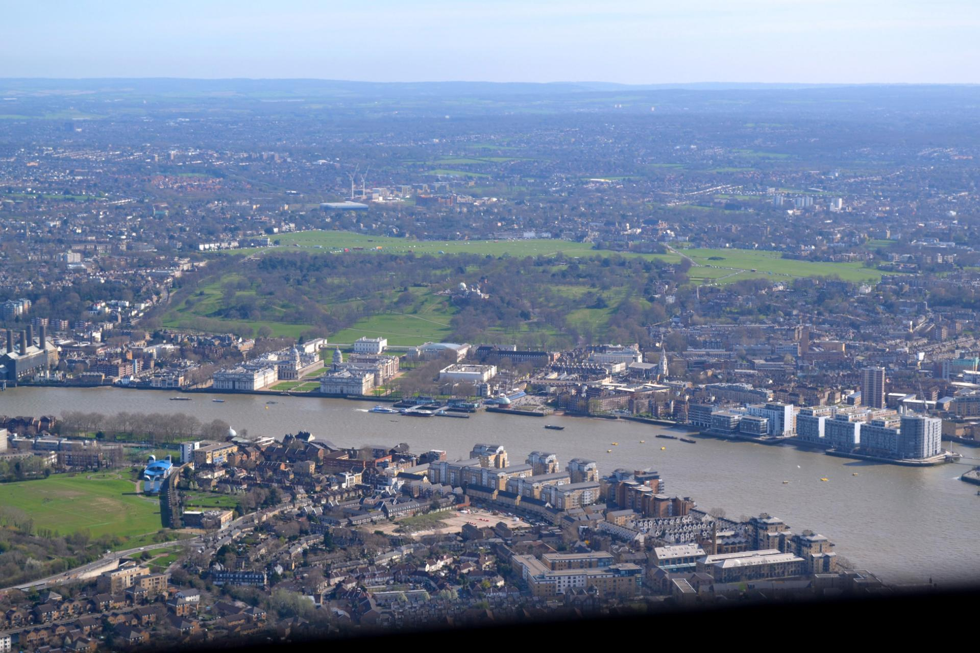 London helicopter tour: Greenwich