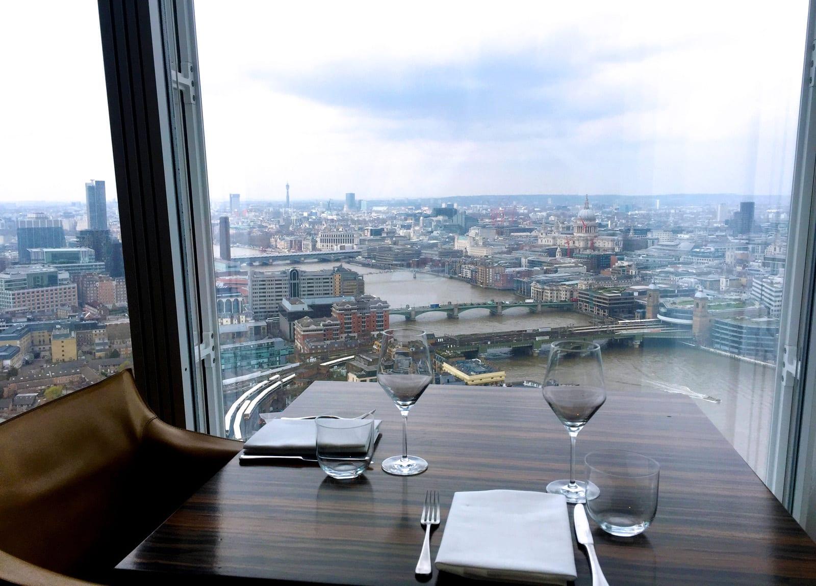 Oblix restaurant en el The Shard de Londres