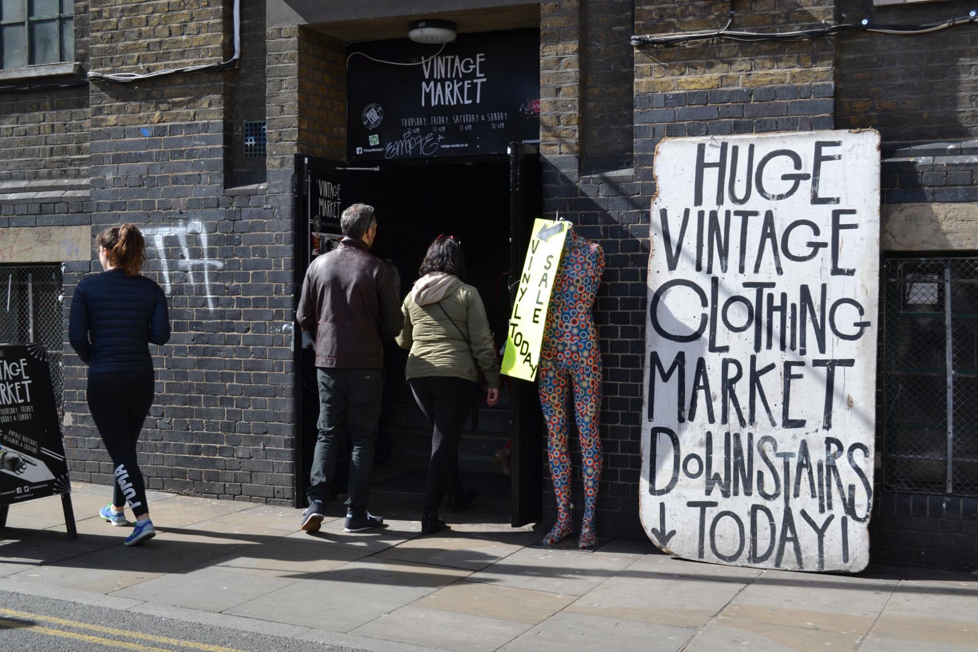 El Vintage Market de Brick Lane, Londres