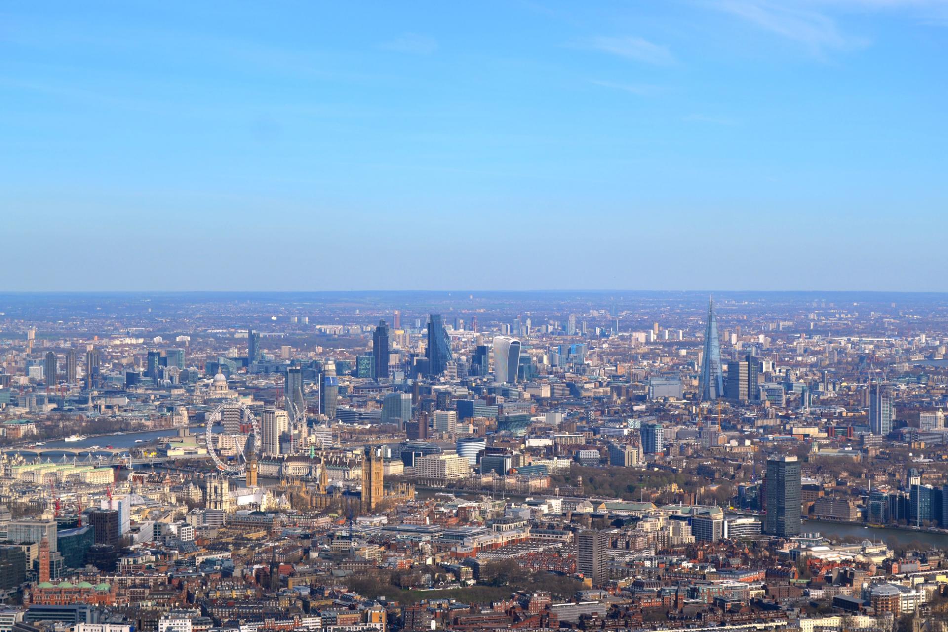 Londres desde el aire desde un tour en helicóptero