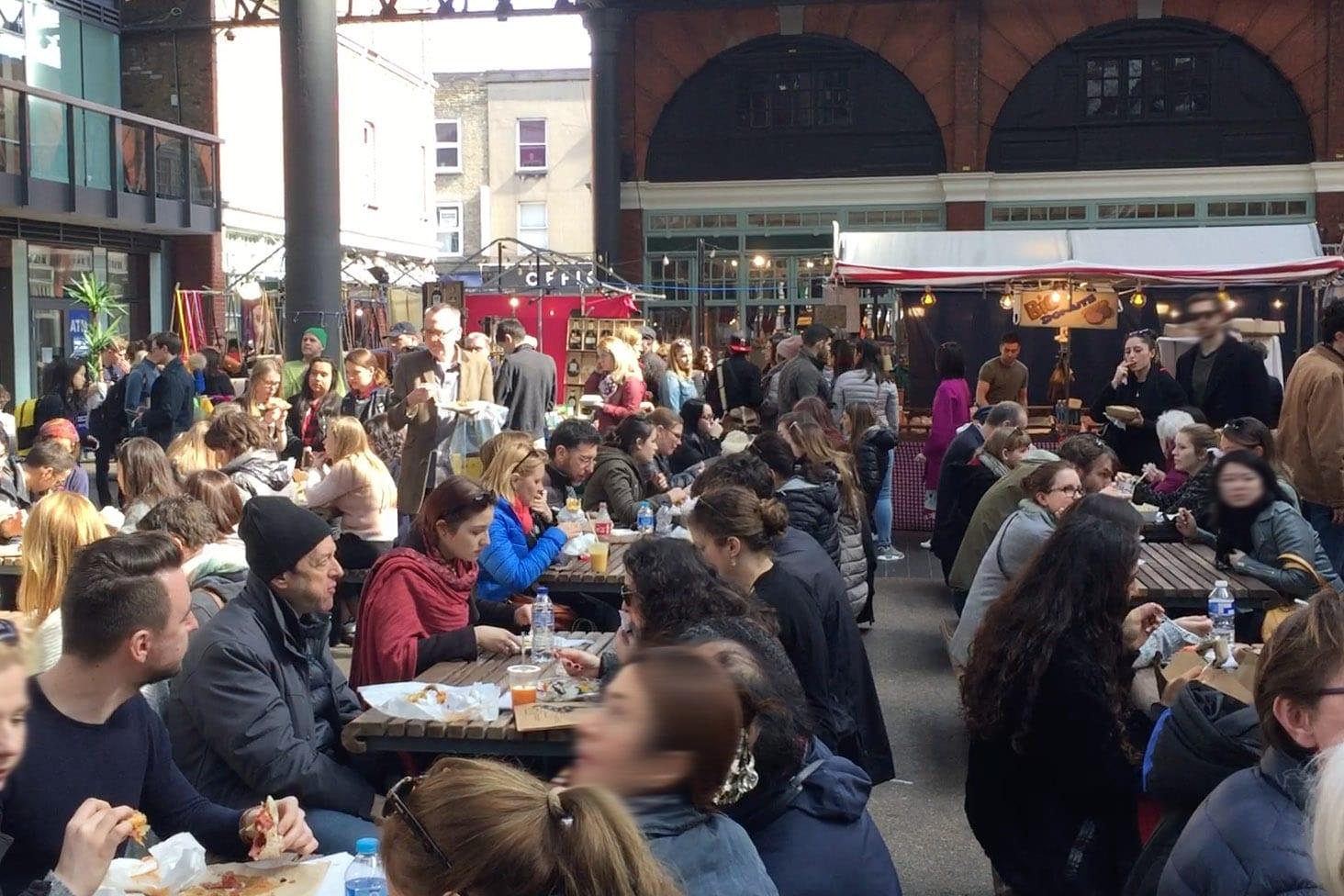 Mercado de comida en el Old Spitalfields Market