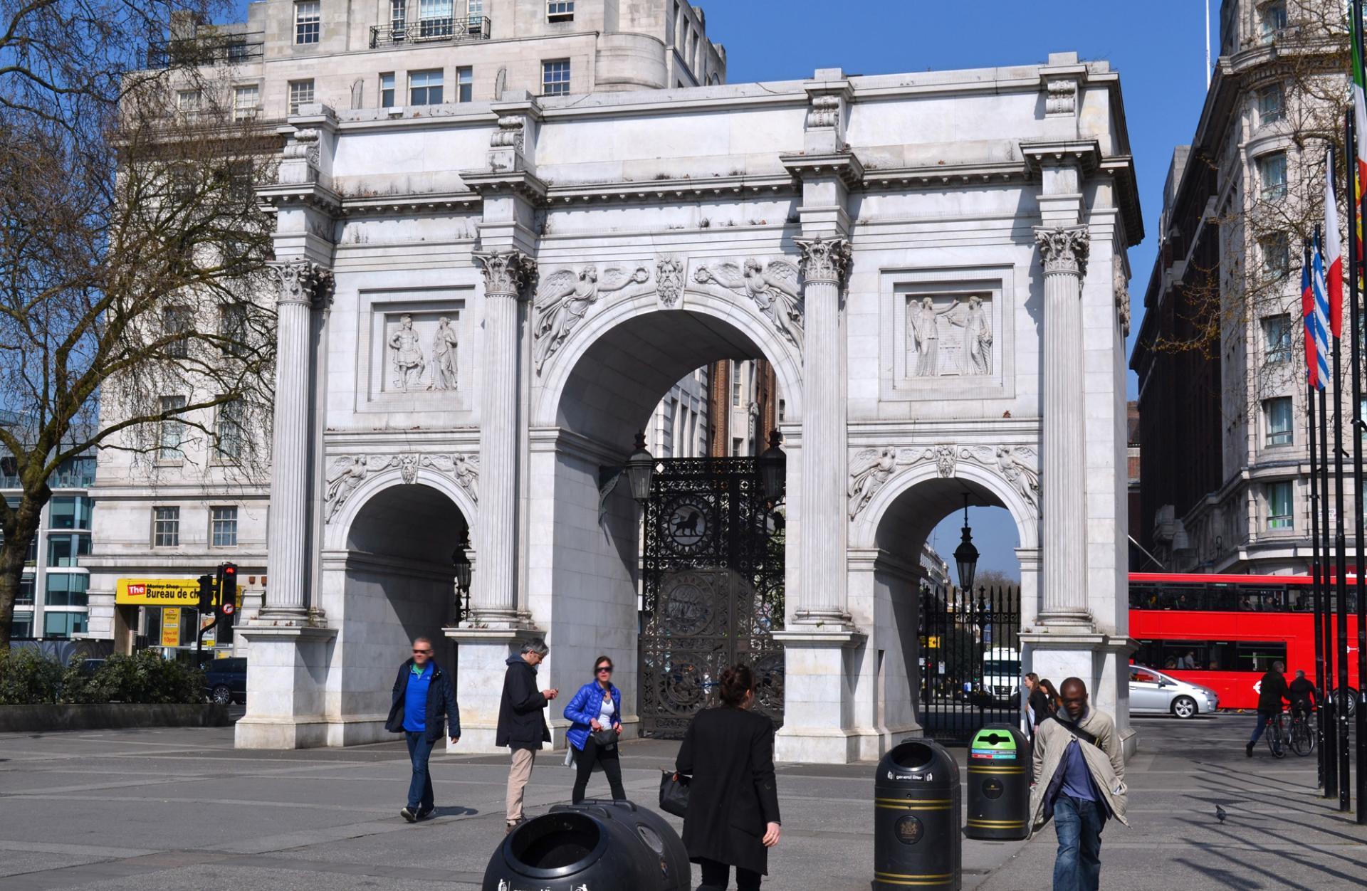 Marble Arch en el Hyde Park de Londres