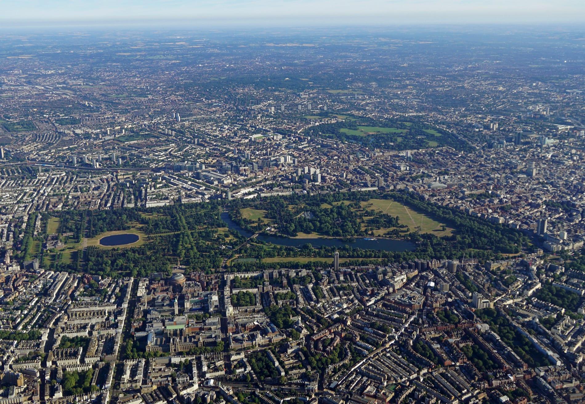 Hyde Park y Kensington Gardens en Londres