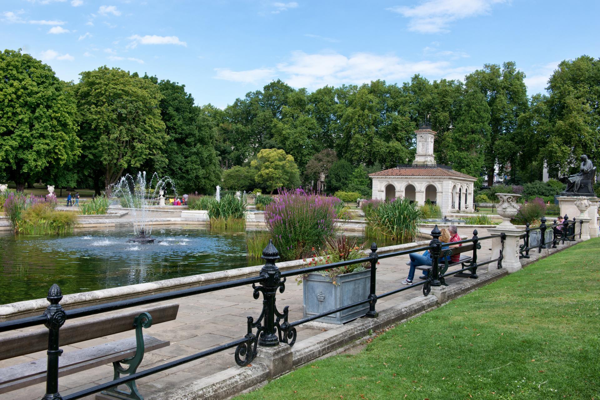 Italian Gardens en el Hyde Park