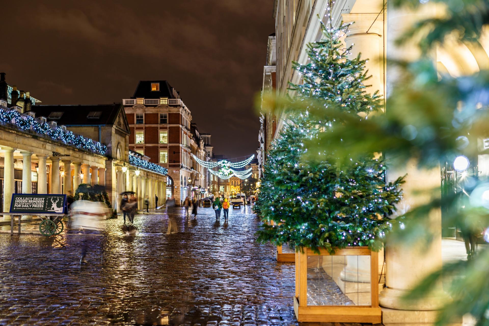 Luces de Navidad en Londres: Covent Garden