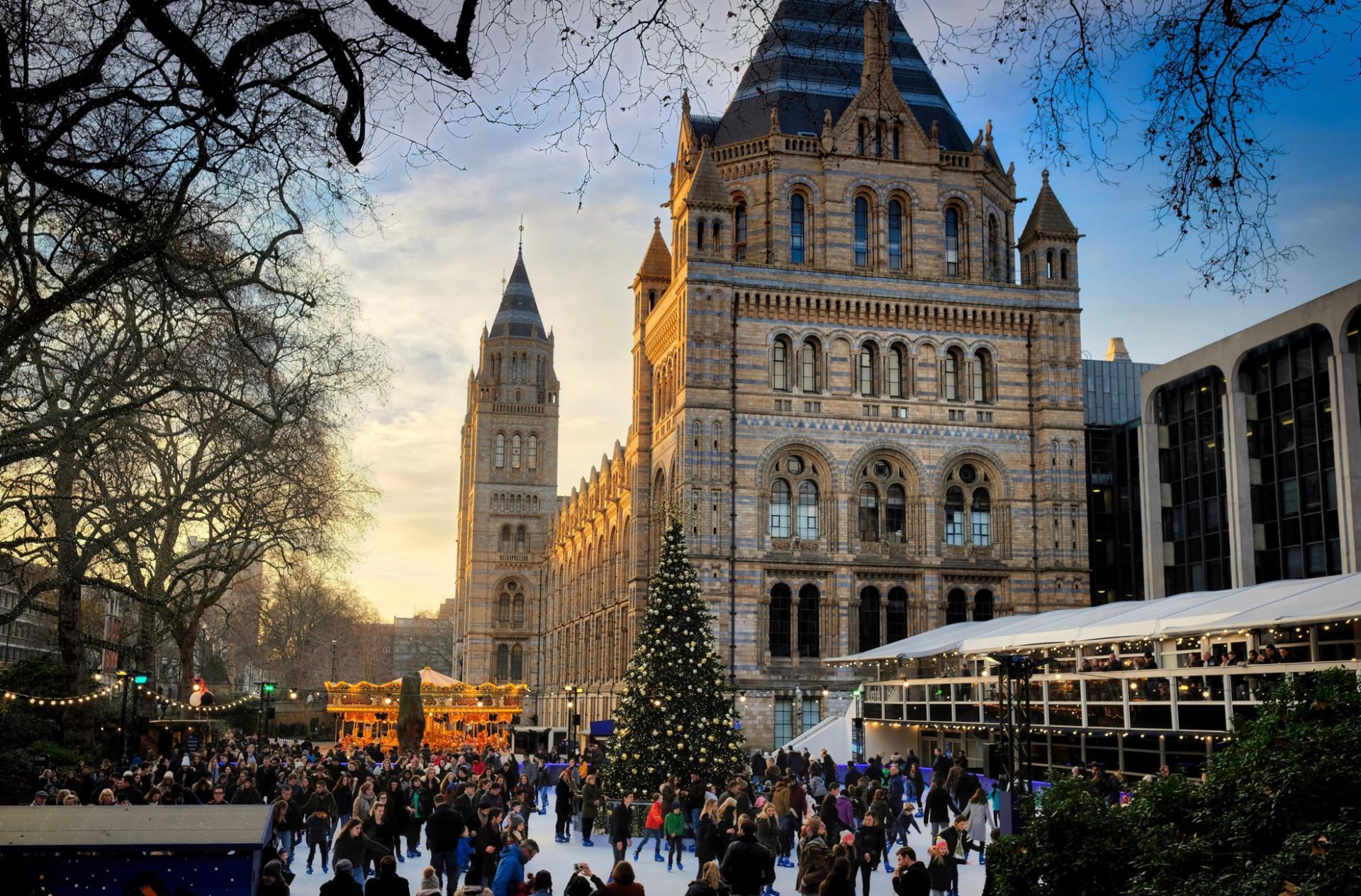 Pista de hielo en Londres en Navidad