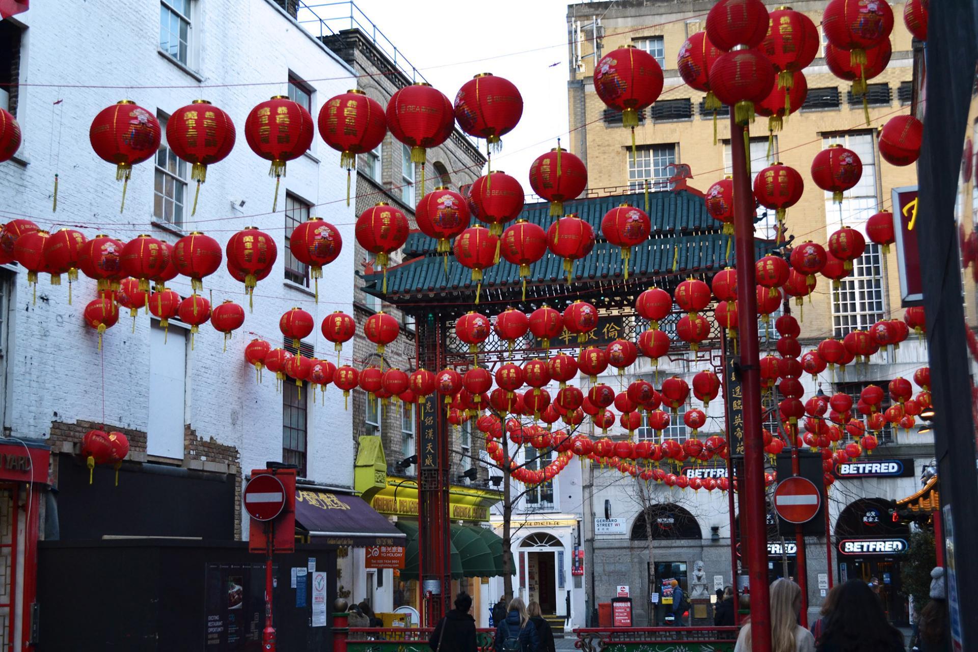 Gerrard Street en Chinatown, Londres