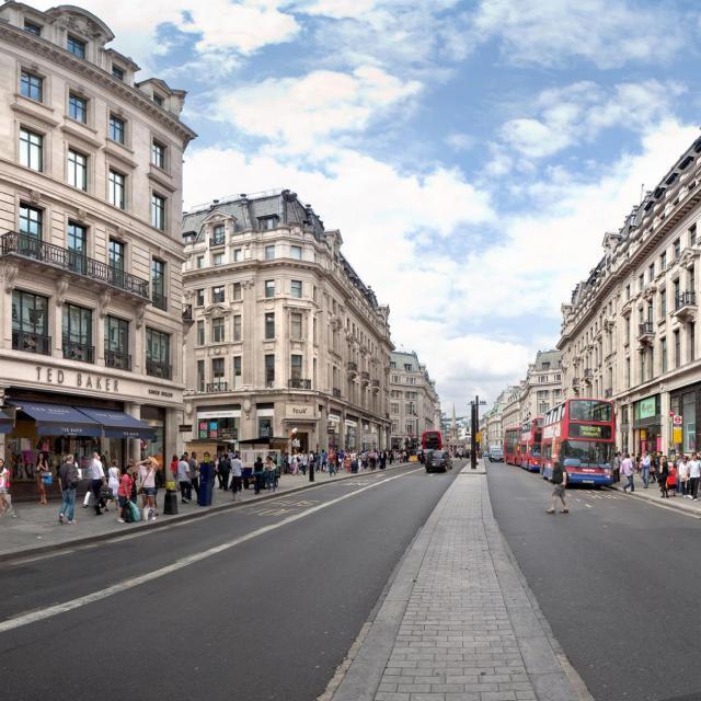 Regent Street y Oxford Street en Londres