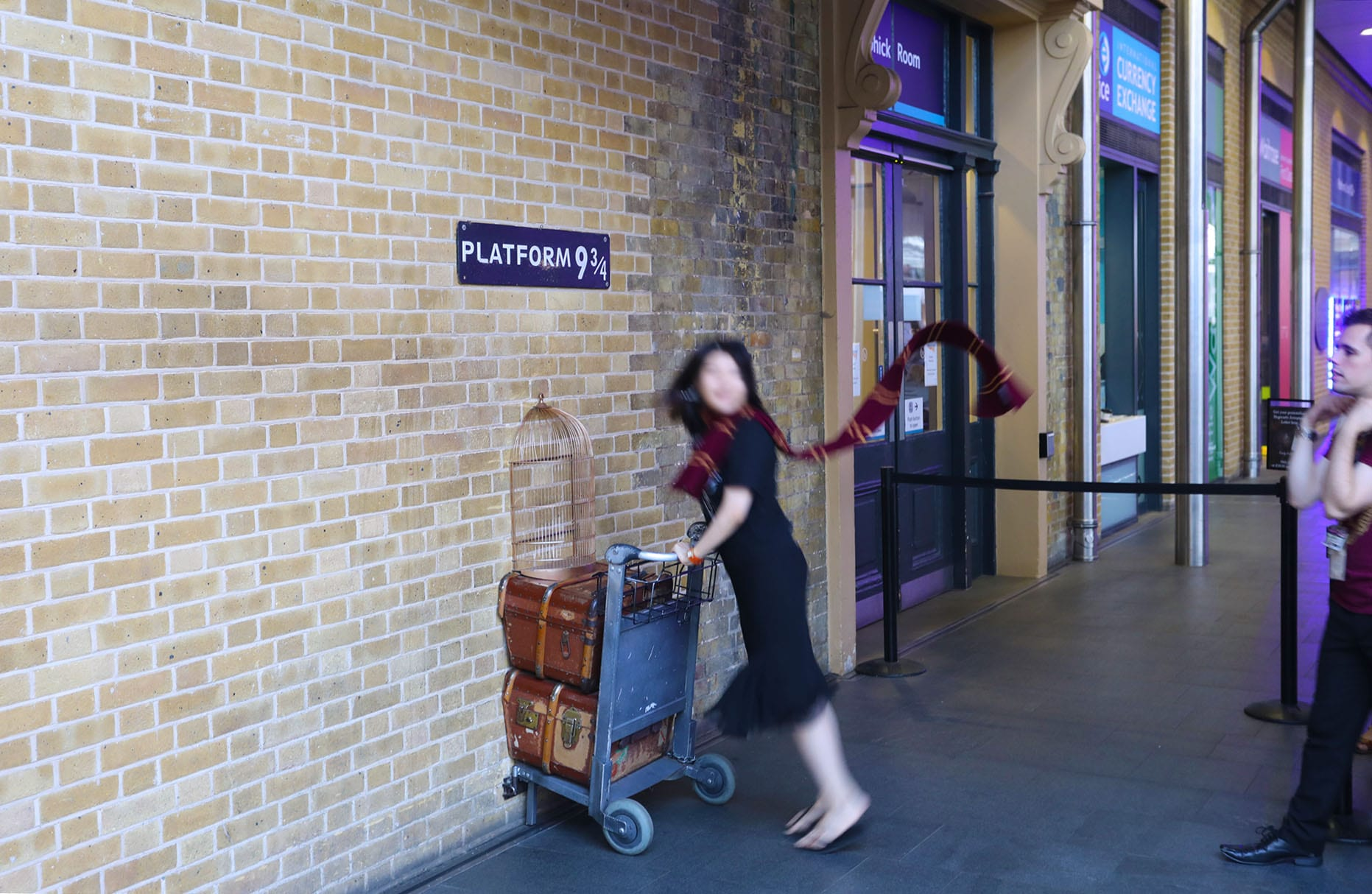 Plataforma 9 3/4 de Harry Potter en Londres