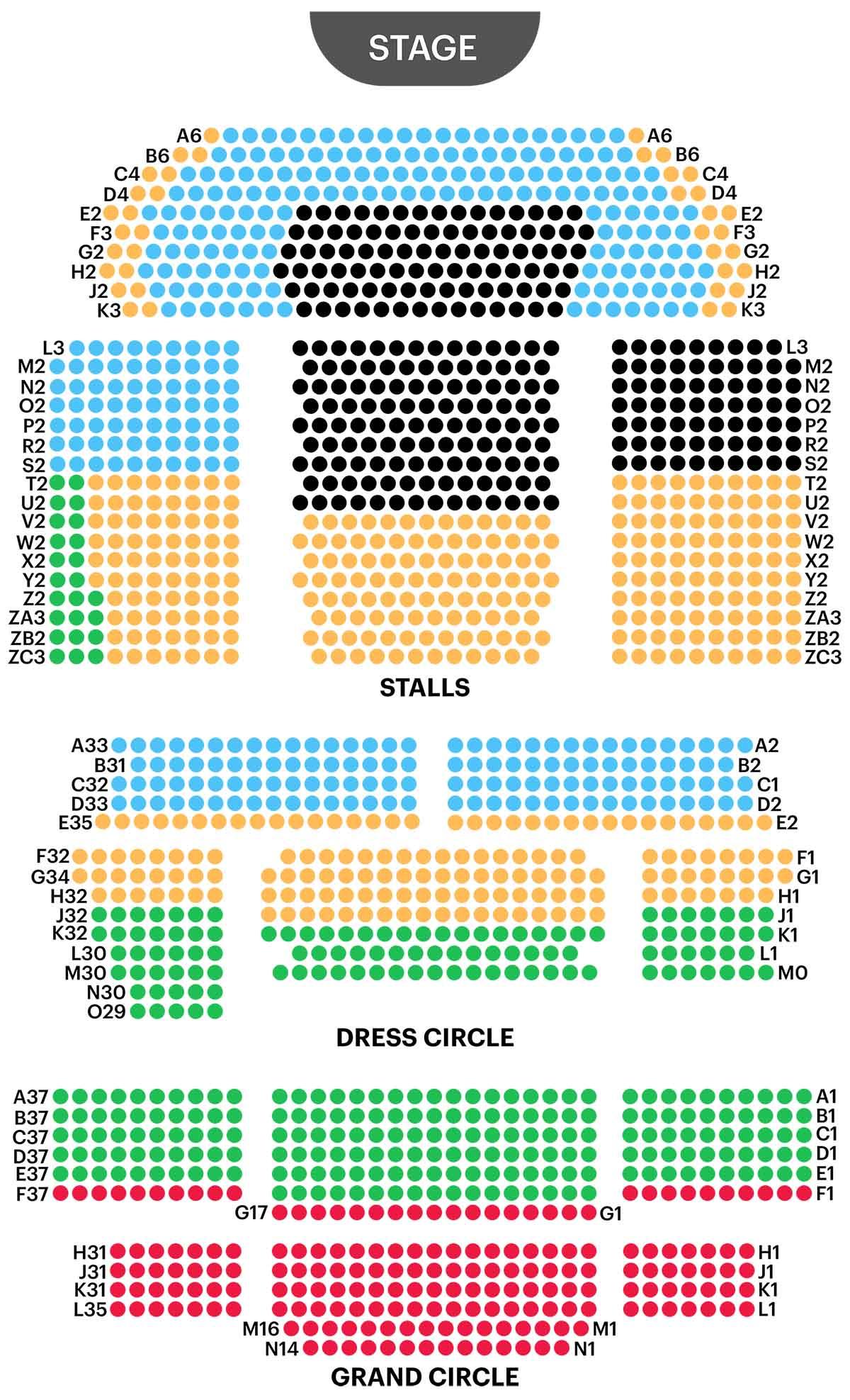 Asientos para Aladdin en el Prince Edward Theatre