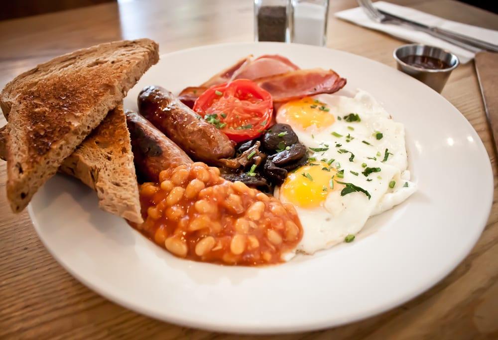 Desayuno inglés en Londres: The Book Club
