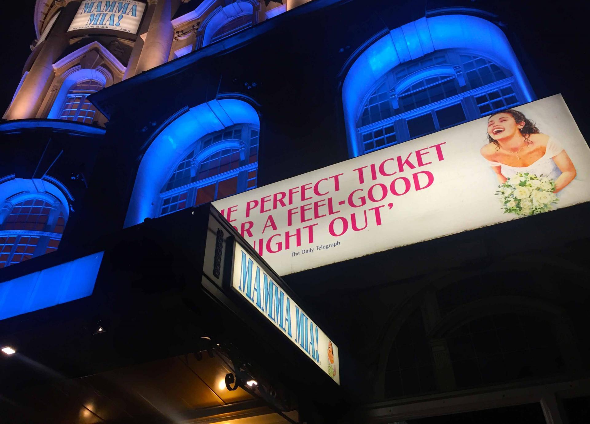 Musical de Mamma Mia en Londres