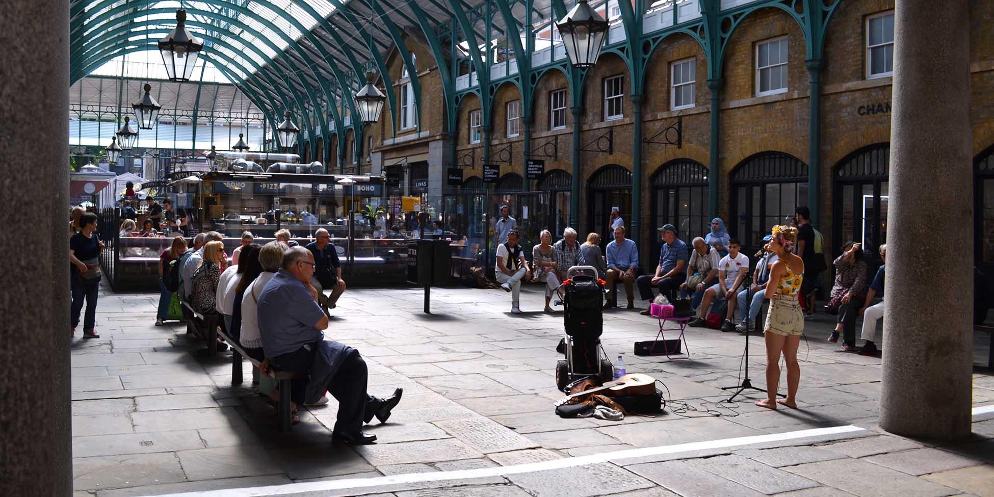 Arte callejero en el Covent Garden Market