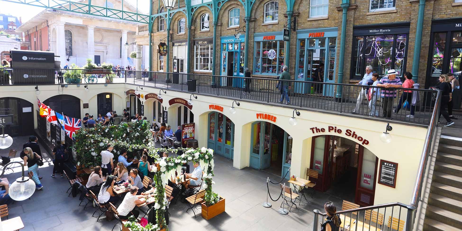 Restaurantes en el mercado de Covent Garden